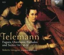 Georg Philipp Telemann (1681-1767): Fugen, Ouvertüren, Präludien & Suiten für Cembalo TWV 30-32, 5 CDs