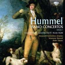 Johann Nepomuk Hummel (1778-1837): Klavierkonzerte Vol.1, CD