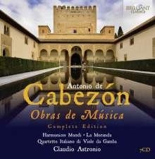 """Antonio de Cabezon (1500-1566): Sämtliche Werke - """"Obras de musica para tecla arpa y vihuela"""", 7 CDs"""