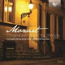 Wolfgang Amadeus Mozart (1756-1791): Kammermusik für Streicher, 12 CDs