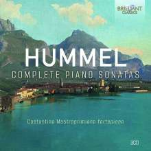 Johann Nepomuk Hummel (1778-1837): Sämtliche Klaviersonaten, 3 CDs