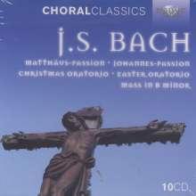 Johann Sebastian Bach (1685-1750): Die großen geistlichen Werke, 10 CDs
