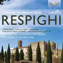 Ottorino Respighi (1879-1936): Sämtliche Orchesterwerke Vol.4, 2 CDs