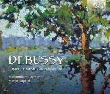 Claude Debussy (1862-1918): Klavierwerke zu vier Händen, 3 CDs