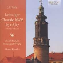 """Johann Sebastian Bach (1685-1750): Choräle BWV 651-668 """"Leipziger Choräle"""", CD"""
