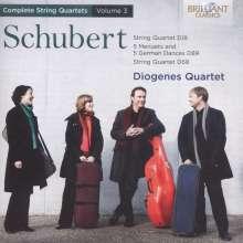 Franz Schubert (1797-1828): Sämtliche Streichquartette Vol.3, CD
