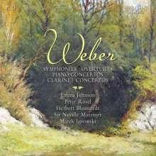 Carl Maria von Weber (1786-1826): Symphonien Nr.1 & 2, 4 CDs