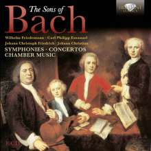 The Sons of Bach - Symphonies, Concertos, Chamber Music, 10 CDs