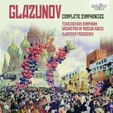 Alexander Glasunow (1865-1936): Symphonien Nr.1-8, 4 CDs