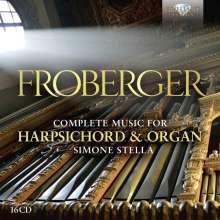 Johann Jacob Froberger (1616-1667): Sämtliche Werke für Cembalo & Orgel, 16 CDs
