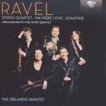 Maurice Ravel (1875-1937): Streichquartett F-dur (Fassung für Bläserquintett), CD