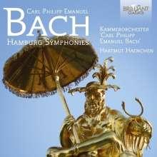 "Carl Philipp Emanuel Bach (1714-1788): Symphonien Wq.182 Nr.1-6 ""Hamburger"", 2 CDs"