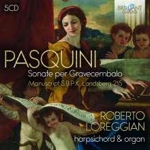 "Bernardo Pasquini (1637-1710): Sämtliche Werke für Tasteninstrumente - ""Sonate per Gravecembalo"" (Landsberg Manuskript), 5 CDs"