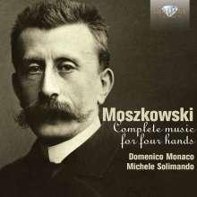 Moritz Moszkowski (1854-1925): Werke für Klavier 4-händig, 3 CDs