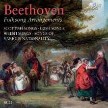 Ludwig van Beethoven (1770-1827): Folksong Arrangements, 6 CDs