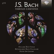 Johann Sebastian Bach (1685-1750): Kantaten BWV 4,12,22,38,42,45,51,54,57,67,73,80,98,131,140,143,147,170,199, 5 CDs