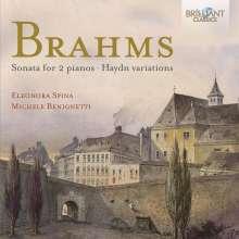 Johannes Brahms (1833-1897): Sonate für 2 Klaviere op.34b, CD