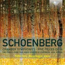 Arnold Schönberg (1874-1951): Kammersymphonien Nr.1 & 2  (arr. für Klavier 4-händig & 2 Klaviere), CD