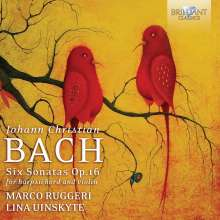 Johann Christian Bach (1735-1782): Sonaten op.16 Nr.1-6 für Violine & Cembalo, CD
