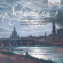 Robert Schumann (1810-1856): Streichquartette Nr.1-3, 3 CDs