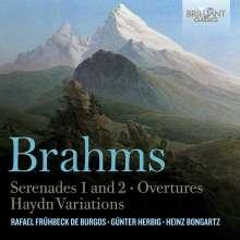 Johannes Brahms (1833-1897): Serenaden Nr.1 & 2, 2 CDs