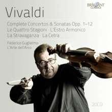 Antonio Vivaldi (1678-1741): Concerti & Sonaten op.1-12, 20 CDs