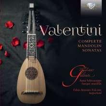 Roberto Valentini (1671-1747): Mandolinensonaten op.12 Nr. 1-6, CD