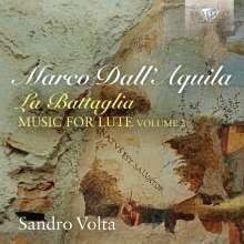 """Marco dall'Aquila (1480-1544): Lautenwerke Vol.2 """"La Battaglia"""", CD"""