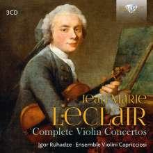 Jean Marie Leclair (1697-1764): Sämtliche Violinkonzerte, 3 CDs