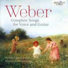 Carl Maria von Weber (1786-1826): Sämtliche Lieder für Sopran & Gitarre, CD