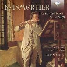 Joseph Bodin de Boismortier (1689-1755): Sonaten für Flöte & Bc op.44 Nr.1-6, 3 CDs