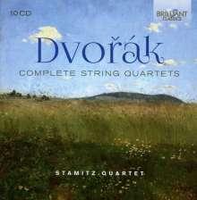 Antonin Dvorak (1841-1904): Streichquartette Nr.1-14, 10 CDs