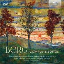 Alban Berg (1885-1935): Sämtliche Lieder, 3 CDs