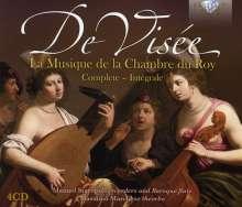 Robert de Visee (1650-1725): Musique de la Chambre du Roy (Gesamtaufnahme), 4 CDs