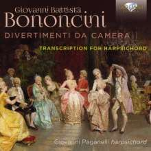 Giovanni Battista Bononcini (1670-1747): Divertimenti da Camera Nr.1-8 arrangiert für Cembalo, CD