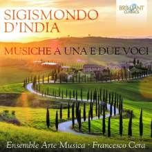 Sigismondo d'India (1582-1629): Werke  für eine oder zwei Stimmen, CD