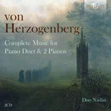 Heinrich von Herzogenberg (1843-1900): Sämtliche Klavierwerke 4-händig & für 2 Klaviere, 2 CDs