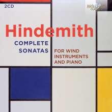 Paul Hindemith (1895-1963): Sonaten für Bläser & Klavier, 2 CDs