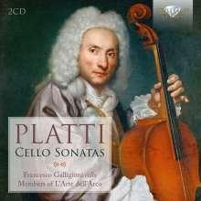 Giovanni Benedetto Platti (1697-1763): Cellosonaten Nr.1-12, 2 CDs