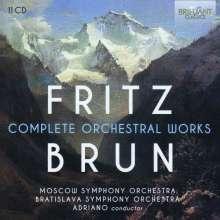 Fritz Brun (1878-1959): Sämtliche Orchesterwerke, 11 CDs