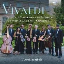 Antonio Vivaldi (1678-1741): Konzerte & Symphonien für Streicher, 4 CDs