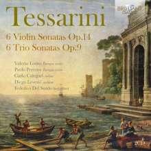 Carlo Tessarini (1690-1766): Sonaten für Violine & Cembalo op.14 Nr.1-6, 2 CDs