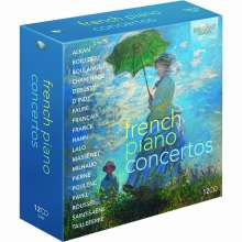 French Piano Concertos, 12 CDs