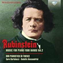 Anton Rubinstein (1829-1894): Werke für Klavier 4-händig Vol.2, 2 CDs