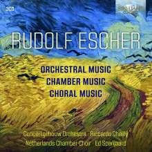 Rudolf Escher (1912-1980): Orchesterwerke,Kammermusik,Chorwerke, 3 CDs