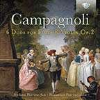 Bartolomeo Campagnoli (1751-1827): Duos für Flöte & Violine op.2 Nr.1-6, CD