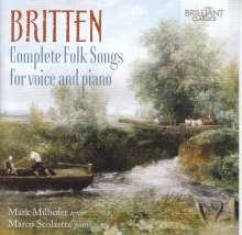 Benjamin Britten (1913-1976): Complete Folk Songs für Stimme & Klavier, CD