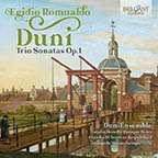 Egidio Romualdo Duni (1709-1775): Triosonaten op.1 für 2 Violinen & Bc, CD