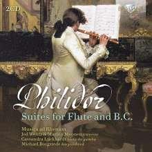 Pierre Dancian Philidor (1681-1731): 12 Suiten für 2 Flöten & Bc (1717 / 1718), 2 CDs