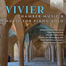 Claude Vivier (1948-1983): Kammermusik & Klavierwerke, CD